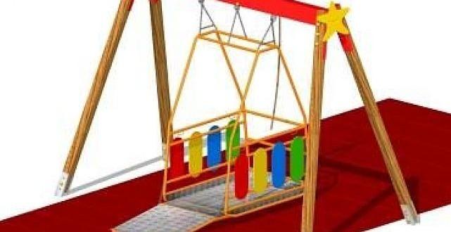 """""""Mi girano le ruote"""", la prima altalena per bambini disabili all'interno del Parco Pinocchio di Salerno"""